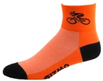 Made in the USA Black//Red Coolmax Gizmo Running Cycling Socks Pirate