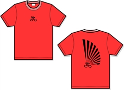 Rising Sun Bicycle T-Shirt - Red
