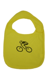 G-Man Bicycle Baby Bib - Yellow