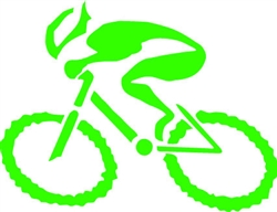 "G-Man Bicycle Die Cut Sticker 6"" Green"