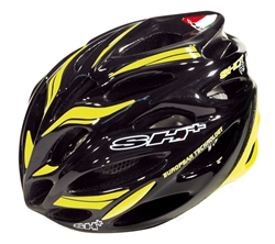 SH+ Shot R1 Helmet - Black/Yellow