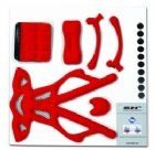 Shabli Helmet Replacement Pad Kit - Red with Mesh